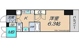 ジュネーゼグラン東梅田[2階]の間取り