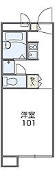 福井県福井市木田1−2217[106号室]の間取り