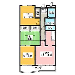 CanfortableMOMO[2階]の間取り