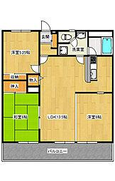 峰1丁目 3LDK マンション[3階]の間取り