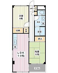 フェアレディマンション[2階]の間取り