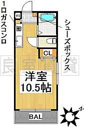 愛知県名古屋市千種区橋本町1丁目の賃貸マンションの間取り