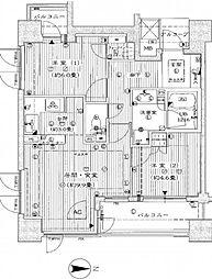 久屋アインス1204号室[12階]の間取り