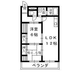 マンション片山4階Fの間取り画像