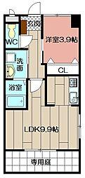 (仮)北方三丁目ペット可新築アパート[202号室]の間取り