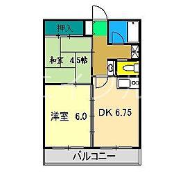 ルミネ中沢[3階]の間取り