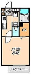 兵庫県神戸市灘区五毛通2丁目の賃貸マンションの間取り