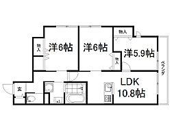 MY Lanai 2階3LDKの間取り