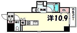 レジディア神戸磯上[7階]の間取り