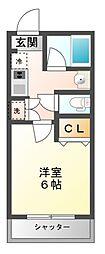 KURASHI−EST MIYAMA[2階]の間取り