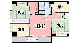 兵庫県姫路市城北新町の賃貸マンションの間取り