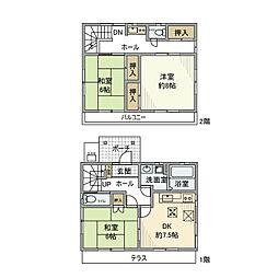 [一戸建] 埼玉県さいたま市岩槻区府内2丁目 の賃貸【/】の間取り