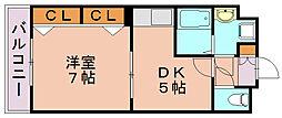 リファレンスベイサイド[7階]の間取り