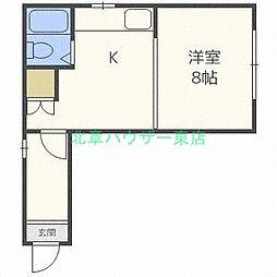 北海道札幌市東区伏古九条2丁目の賃貸マンションの間取り