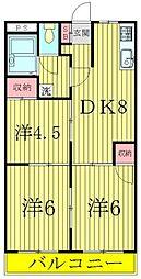 レジデンス小澤ハイツ[3階]の間取り