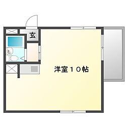 YKハイツ舞子坂[5階]の間取り