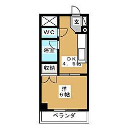 メゾン純[3階]の間取り