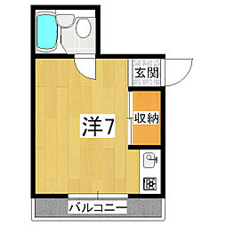 フラットハウスヤク[3階]の間取り