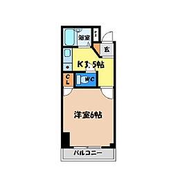 シティガーデン富田[205号室]の間取り
