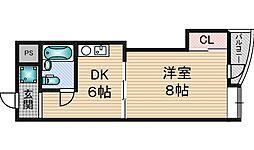 あかつきマンション[3階]の間取り
