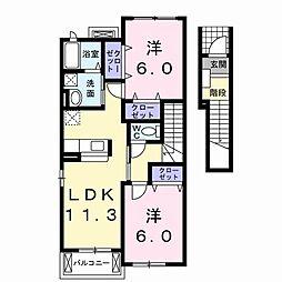 ガーデン レイ A[2階]の間取り