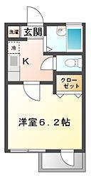 ルミナス大久保[2階]の間取り