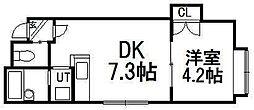クリエイト東札幌[102号室]の間取り