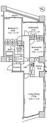 JR山手線 新宿駅 徒歩8分の賃貸マンション 24階3LDKの間取り