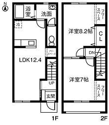 (仮)愛知県知立市新林町MP B[101号室]の間取り
