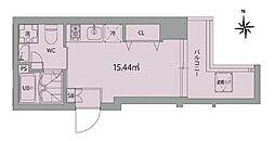 東京メトロ銀座線 末広町駅 徒歩8分の賃貸マンション 7階ワンルームの間取り