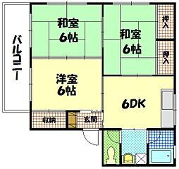 平成ハタI[2階]の間取り