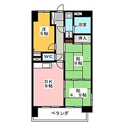 アーバンハイツ富吉[6階]の間取り