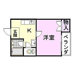 YANO本庄ハイツ[2階]の間取り