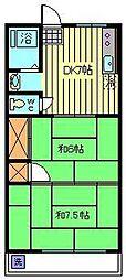 埼玉県川口市元郷4丁目の賃貸マンションの間取り