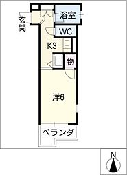 ハーモニアス白鳥[4階]の間取り