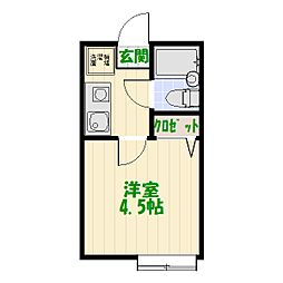 フォーレ大谷田II[2階]の間取り