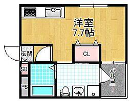 シャンテー宮之阪[1階]の間取り