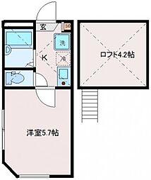 アンシャンテ東尾久[2階]の間取り