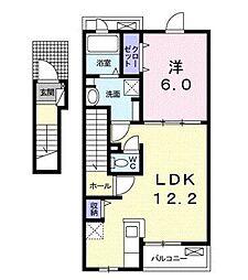 ルネ ルネッサンス II[2階]の間取り