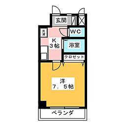 K01[4階]の間取り