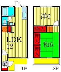 千葉県流山市駒木台の賃貸アパートの間取り