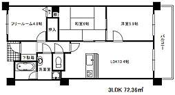 兵庫県神戸市中央区諏訪山町の賃貸マンションの間取り
