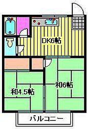 エスポワール元町II[2階]の間取り