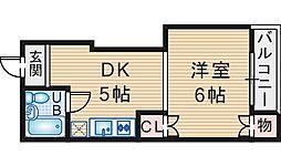 ストークハイツ北桜塚[206号室]の間取り