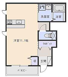 エストファミーユ[1階]の間取り
