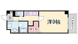 神戸市西神・山手線 新長田駅 徒歩14分の賃貸マンション 3階1Kの間取り