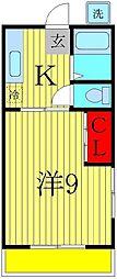 中田ハイツ[1階]の間取り