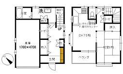 [一戸建] 神奈川県横浜市中区麦田町3丁目 の賃貸【/】の間取り