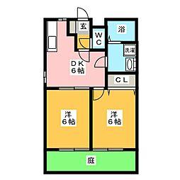 M&S 8番館[1階]の間取り