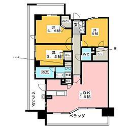 ローレルコート御器所[9階]の間取り